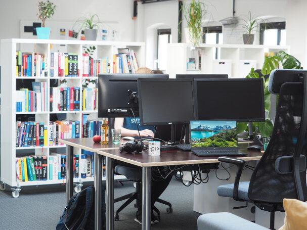 e-pixler Bücherwand