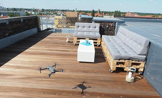 e-pixler Dachterrasse Drohne