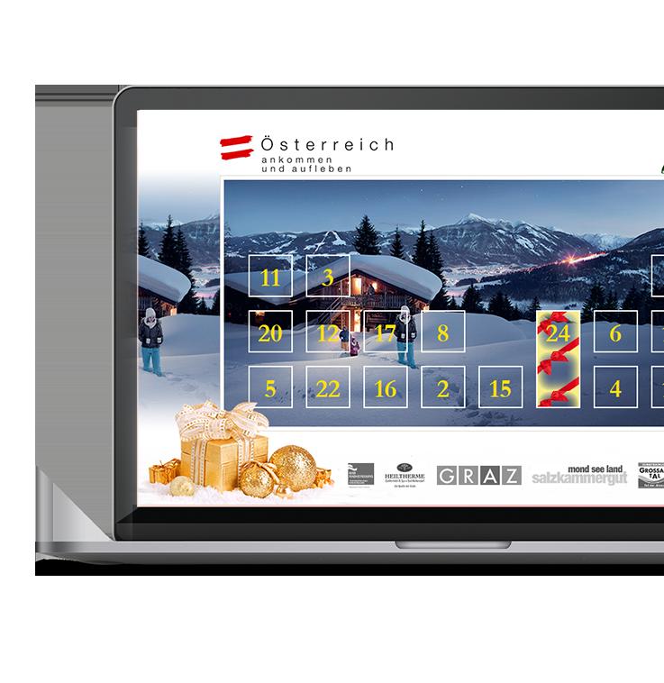 Adventskalender mit Gewinnspiel für die Österreich Werbung Deutschland GmbH